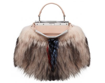 FENDI Peekaboo Fur Mini Bag